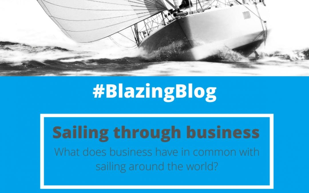 What does business have in common with sailing around the world?